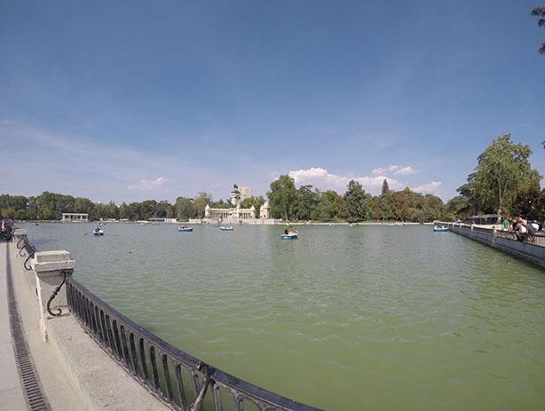 Lago em Madrid, viajando pela Europa