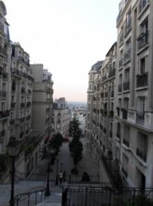 Caminho do hostel para a Sacré-Coeur.