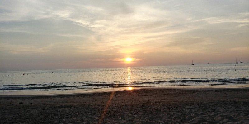 Pôr do sol em Koh Lanta