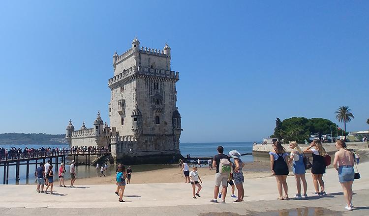 Lisboa em Portugal, viajando pela Europa