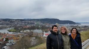 Vista da cidade a partir do forte de Trondheim (Kristiansten Festning).